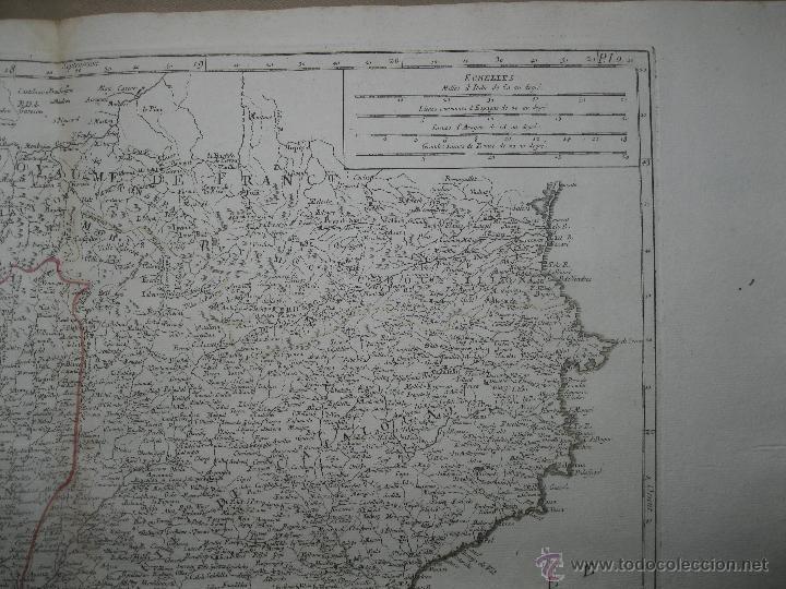 Arte: Gran mapa de Aragón, Navarra y Cataluña (España)1778. Vaugondy/Santini - Foto 4 - 45028382