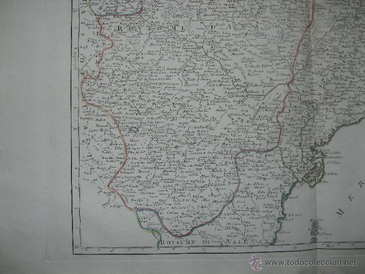 Arte: Gran mapa de Aragón, Navarra y Cataluña (España)1778. Vaugondy/Santini - Foto 5 - 45028382