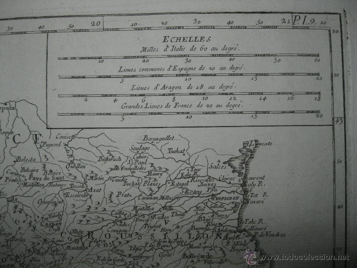 Arte: Gran mapa de Aragón, Navarra y Cataluña (España)1778. Vaugondy/Santini - Foto 7 - 45028382