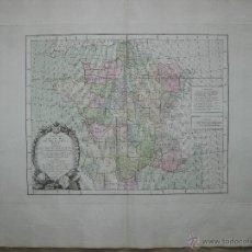 Arte: MAPA TOPOGRÁFICO DE FRANCIA.1775. ZANNONI/DESNOS. Lote 45044555