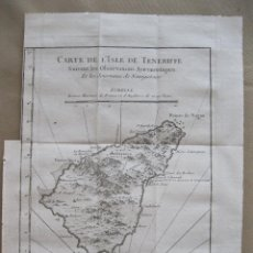 Arte: MAPA DE TENERIFE, ISLAS CANARIAS (ESPAÑA).1748. BELLIN. Lote 45078097