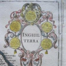 Arte: MAPA DE INGLATERRA,REINO UNIDO.1740. DE L'ISLE.. Lote 45274142