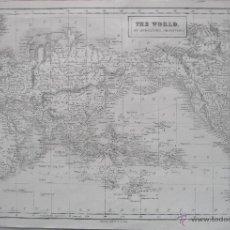 Arte: MAPA DEL MUNDO,1860.ADAM BLACK. Lote 211718426