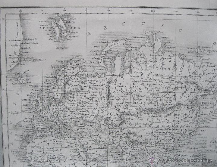 Arte: Mapa del mundo,1860.Adam Black - Foto 2 - 211718426