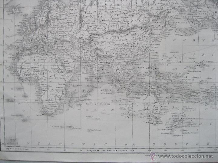 Arte: Mapa del mundo,1860.Adam Black - Foto 4 - 211718426