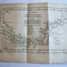 Arte: CARTE DU DÉTROIT DE MAGELLAN PAR BELLIN ING. DE LA MAR. 1753. MAPA DEL ESTRECHO DE MAGALLANES.. Lote 45399255