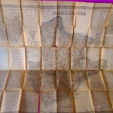 Arte: BARCELONA, ATLAS DE ESPAÑA Y SUS POSESIONES DE ULTRAMAR, D. FRANCISCO COELLO, D. PASCUAL MADOZ 1862. Lote 45993426