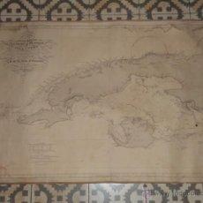 Arte: MAPA CUBA - CARTA ESFÉRICA DE LA ISLA DE CUBA – AÑO 1837 CORREGIDA Y ADICIONADA EN 1867. Lote 46149659