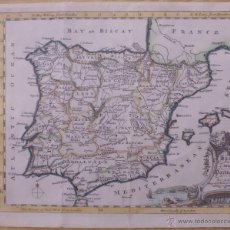 Arte: MAPA DE ESPAÑA Y PORTUGAL, 1755. JEFFERYS. Lote 46251929