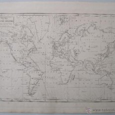 Arte: MAPA DEL MUNDO, P. BARLOW, CIRCA 1840. Lote 47453517