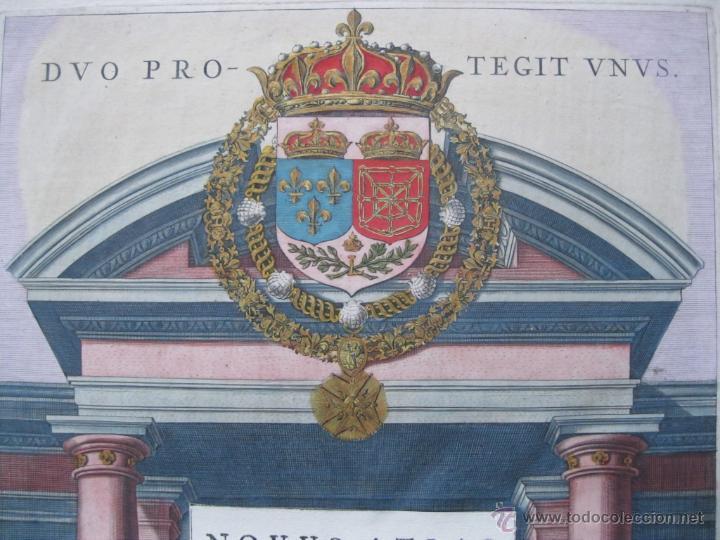 Arte: Frontispicio o portada del Atlas Novus, 1642. Joan Blaeu - Foto 5 - 47257424