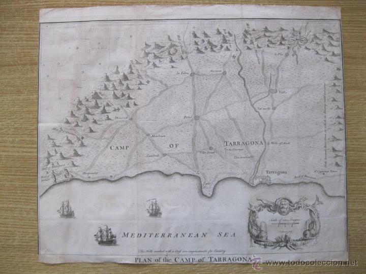MAPA DE TARRAGONA, ESPAÑA.(1745), BASIRE. (Arte - Cartografía Antigua (hasta S. XIX))