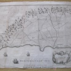 Arte: MAPA DE TARRAGONA, ESPAÑA.(1745), BASIRE.. Lote 47257482