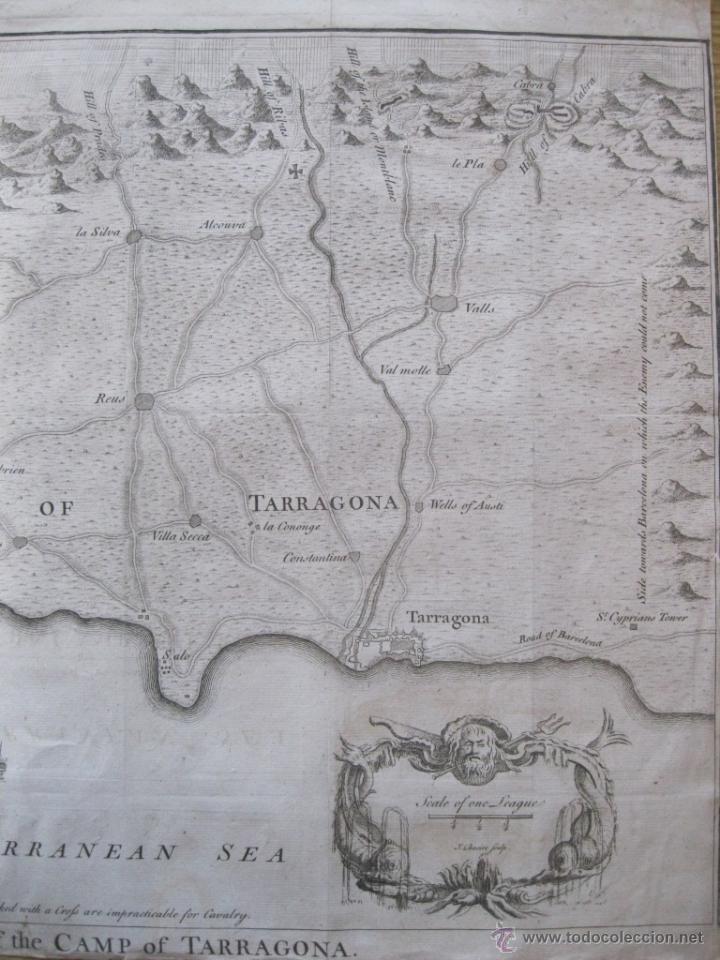 Arte: Mapa de Tarragona, España.(1745), Basire. - Foto 4 - 47257482