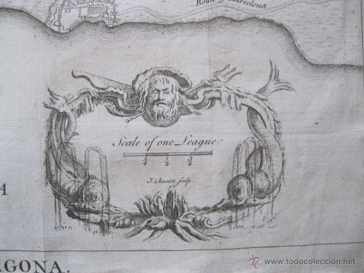 Arte: Mapa de Tarragona, España.(1745), Basire. - Foto 5 - 47257482