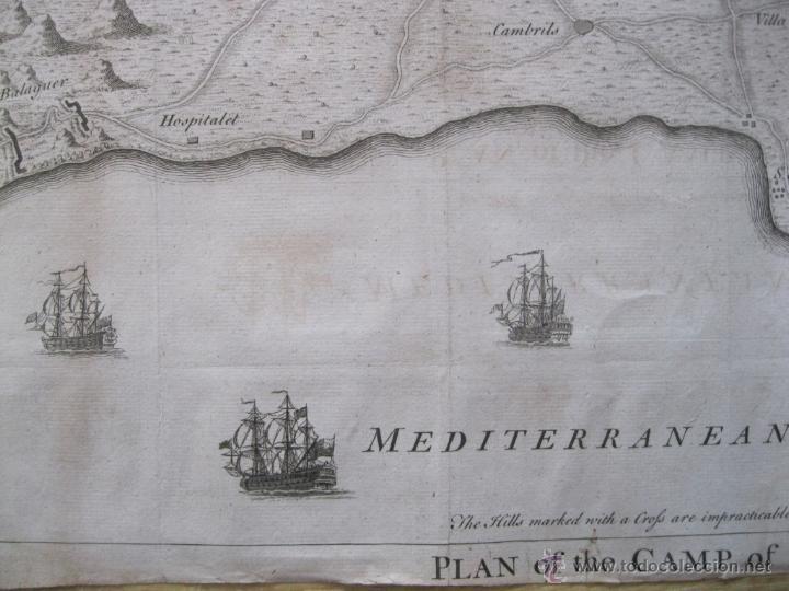 Arte: Mapa de Tarragona, España.(1745), Basire. - Foto 6 - 47257482