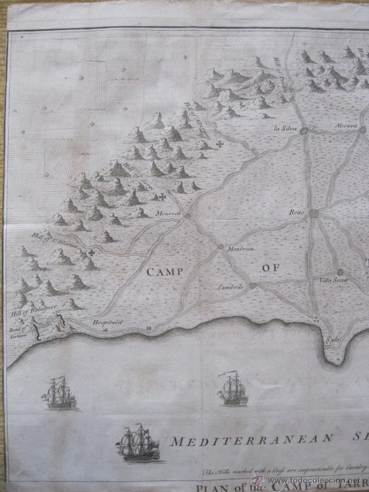 Arte: Mapa de Tarragona, España.(1745), Basire. - Foto 7 - 47257482