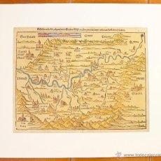 Arte: MAPA ECLESIÀSTICO ( NORTE DE ITALIA ?). IMPRESO EN ALEMANIA, COLOREADO A MANO. S. XVII. Lote 47290186