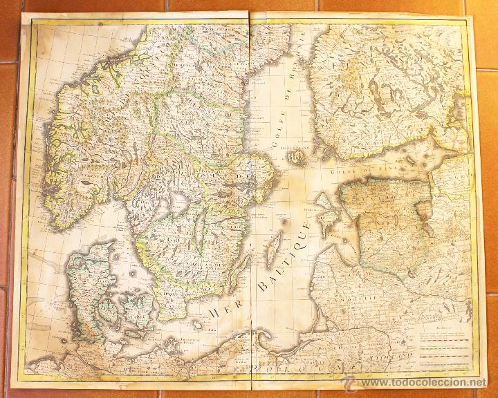 mapa de europa del norte dinamarca suecia no  Comprar