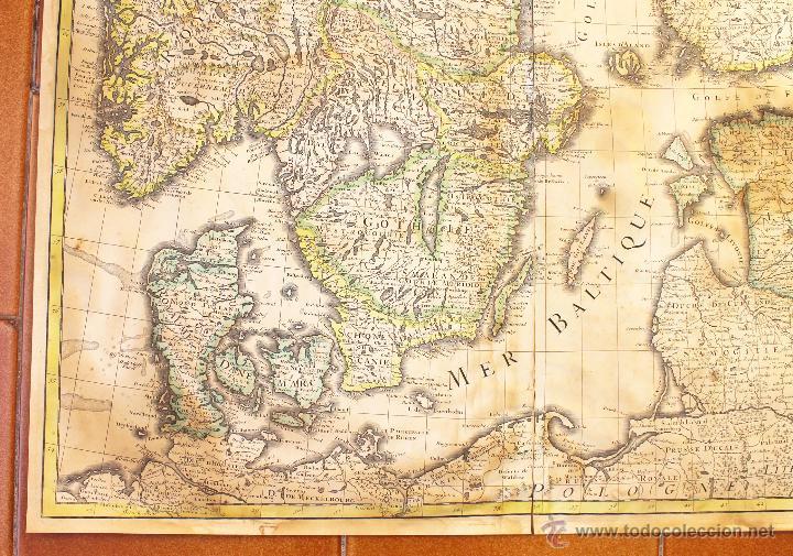 Arte: MAPA DE EUROPA DEL NORTE (DINAMARCA, SUECIA, NORUEGA, FINLANDIA...). SIGLO XVII - Foto 2 - 47290595