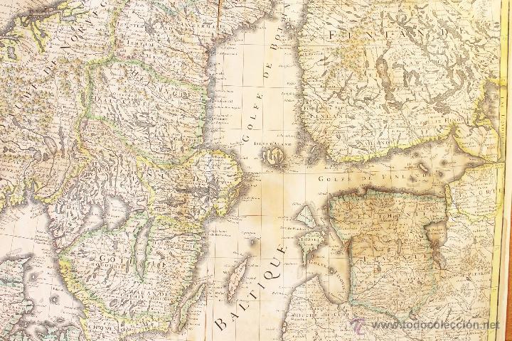 Arte: MAPA DE EUROPA DEL NORTE (DINAMARCA, SUECIA, NORUEGA, FINLANDIA...). SIGLO XVII - Foto 3 - 47290595