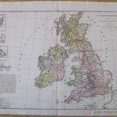 Arte: MAPA DEL REINO UNIDO E IRLANDA, 1827. TASSO. Lote 47326526