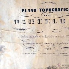 Arte: LITOGRAFIA, PLANO TOPOGRAFICO DE BARCELONA, INCLUSA PUEBLOS 1855, D. IGNACIO MAYANS Y FERRER. Lote 47402833