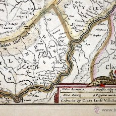 Arte: VISSCHER Y PISCATOREM. TABULA DUCATUS BRABANTIAE... 1670. Lote 47468278