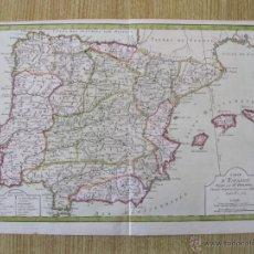 Arte: MAPA DE ESPAÑA Y PORTUGAL.1763. PRETOT. Lote 47496345