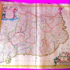 Arte: MAPA, PRINCIPATUS CATALONIAE NEC NON COMITATUUM RUSCINONENSIS ET CERRETANIAE, F. DE WIT 1665. Lote 47585834