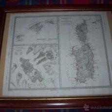 Arte: MAPA DE LAS BALEARES - MALTA( VALETA) -CÓRCEGA Y CERDEÑA PUBLICADO POR BALDWIN AND CRADOCK.1831.. Lote 47722885