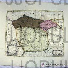 Arte: ANTIGUO MAPA LEGIONIS REGNUM ET ASTURIARUM PRINCIPATUS. WALK Y SCHENK ASTURIAS LEON FIN SIGLO XVII. Lote 48549587