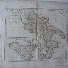 Arte: 'ROYAUME DE NAPLES ET DE SICILE' PAR ROBERT DE VAUGONDY' . Lote 48735307