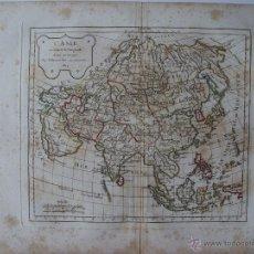 Arte: L'ASIE' PAR ROBERT DE VAUGONDY 1804. Lote 48735604