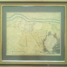 Arte: GRABADO ORIGINAL PLANO DE LA CIUDAD DE LERIDA (LLEIDA) Y SU CASTILLO. GUERRA DE SUCESION 1707. . Lote 48764430