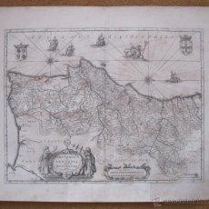 Arte: MAPA DE PORTUGAL, 1650. JANSSONIUS. Lote 48810645