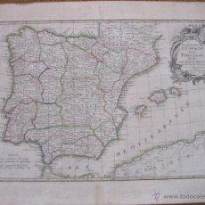 Arte: GRAN MAPA DE ESPAÑA Y PORTUGAL, 1762.JANVIER. Lote 48813868
