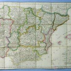 Arte: MAPA ESPAÑA Y PORTUGAL CHARLE GEOGRAPHE PARÍS 1851 CARTE DES ROYAUMES ESPAGNE ET PORTUGAL FRANÇAIS. Lote 48886154