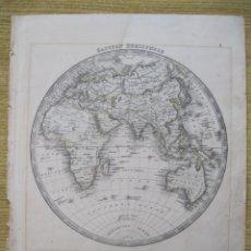 Arte: MAPA DEL HEMISFERIO ORIENTAL.1860. Lote 49220661