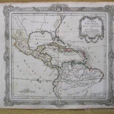 Arte: MAPA DE MÉXICO, CUBA, ANTILLAS Y GUAYANA, 1766. BRION/DESNOS. Lote 49220733