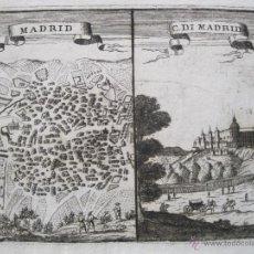 Arte: VISTA Y PLANO DE MADRID, 1710. CORONELLI.. Lote 49582084