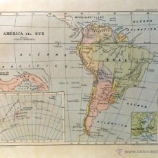 Arte: MAPA DE AMERICA DEL SUR. Lote 49717152