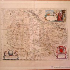 Arte: CARTOGRAFIA ANTIGUA,MAPA ITALIA AÑO 1660,S.XVII,CARTOGRAFO HOLANDES BLAEU,UMBRIA DUCATO DI SPOLETO. Lote 49747317