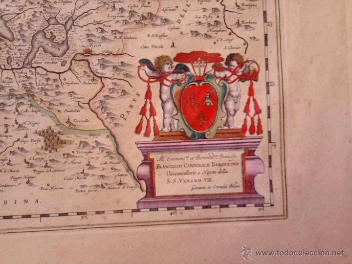 Arte: CARTOGRAFIA ANTIGUA,MAPA ITALIA AÑO 1660,S.XVII,CARTOGRAFO HOLANDES BLAEU,UMBRIA DUCATO DI SPOLETO - Foto 3 - 49747317
