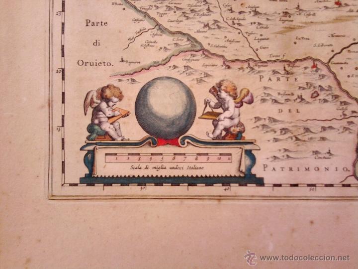 Arte: CARTOGRAFIA ANTIGUA,MAPA ITALIA AÑO 1660,S.XVII,CARTOGRAFO HOLANDES BLAEU,UMBRIA DUCATO DI SPOLETO - Foto 4 - 49747317