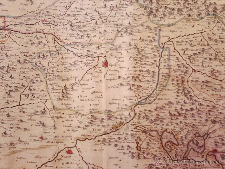 Arte: CARTOGRAFIA ANTIGUA,MAPA ITALIA AÑO 1660,S.XVII,CARTOGRAFO HOLANDES BLAEU,UMBRIA DUCATO DI SPOLETO - Foto 5 - 49747317