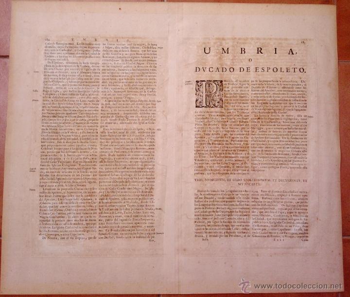 Arte: CARTOGRAFIA ANTIGUA,MAPA ITALIA AÑO 1660,S.XVII,CARTOGRAFO HOLANDES BLAEU,UMBRIA DUCATO DI SPOLETO - Foto 7 - 49747317