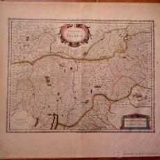 Arte: CARTOGRAFIA ANTIGUA,MAPA AÑO 1660,SIG. XVII,CARTOGRAFO HOLANDES BLAEU,TERRITORIO DI TRENTO-ITALIA-. Lote 49747459