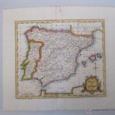 Arte: MAPA DE ESPAÑA Y PORTUGAL, 1752. JOHN GIBSON. Lote 49759518