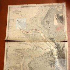 Arte: CARTA NAUTICA INGLESA DEL AÑO 1917. LIVERPOOL BUCHT. Lote 49766621